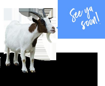 Goat says - See ya soon!
