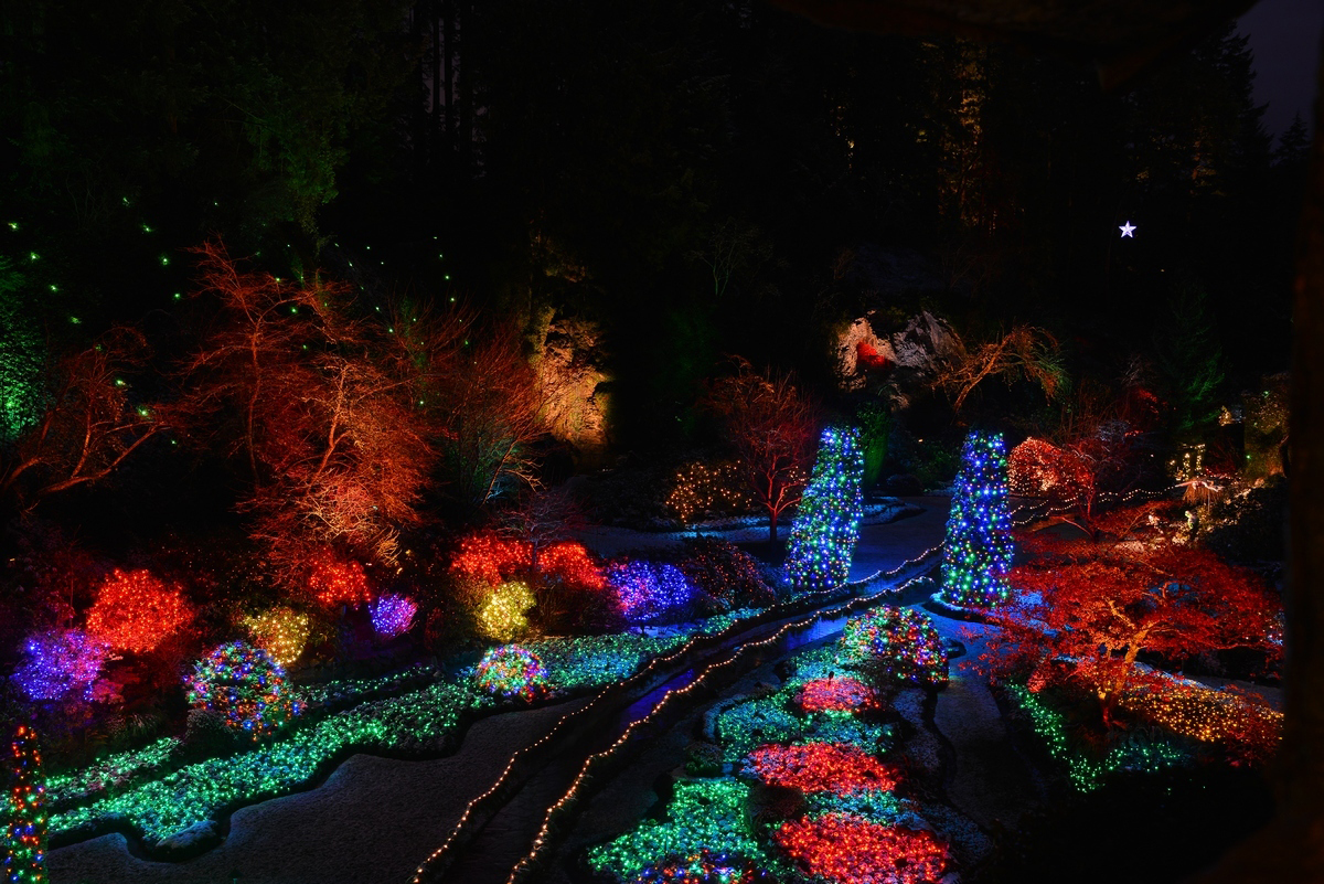 Christmas at The Butchart Gardens in Victoria, BC