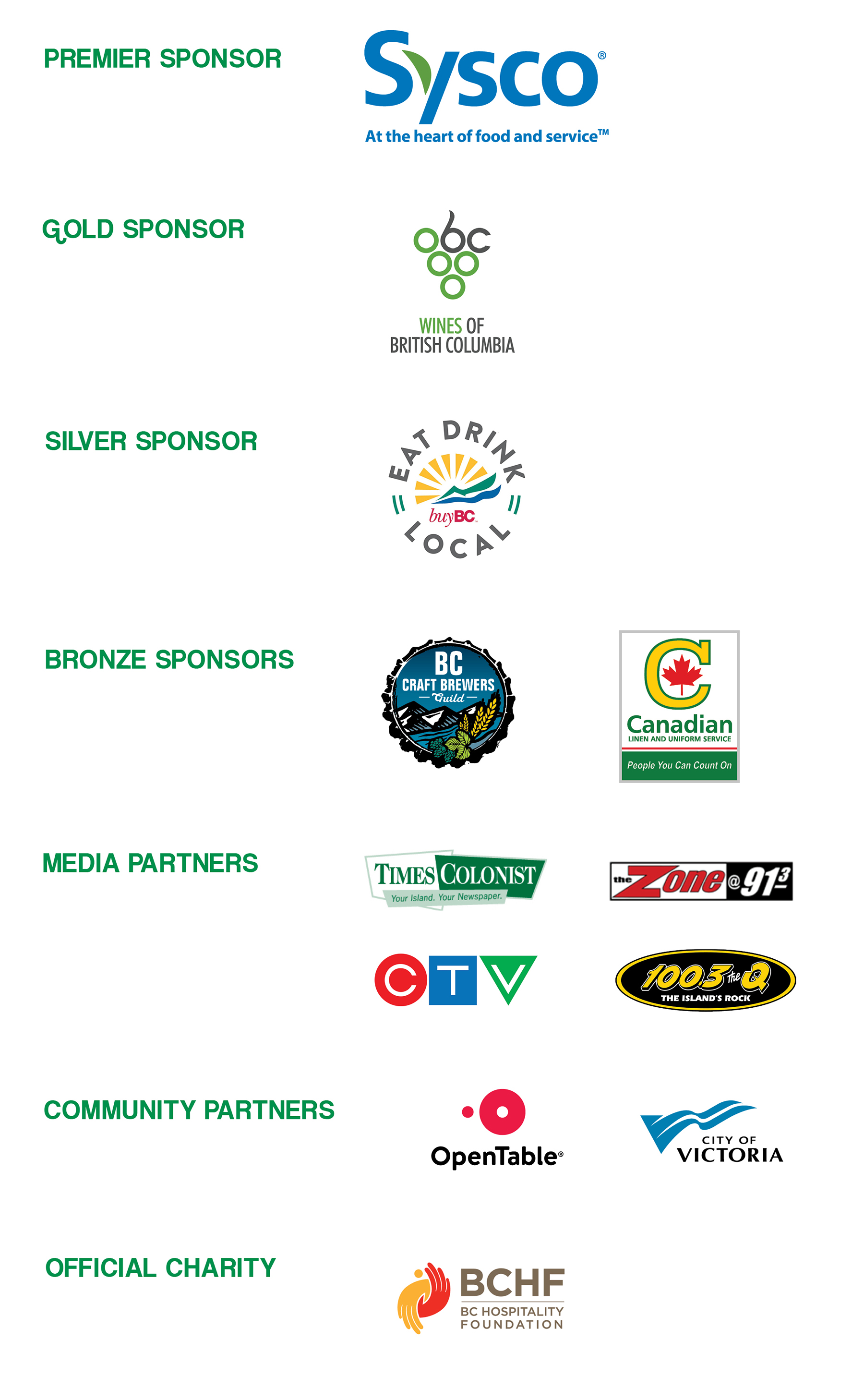 Dine Around Sponsors 2019