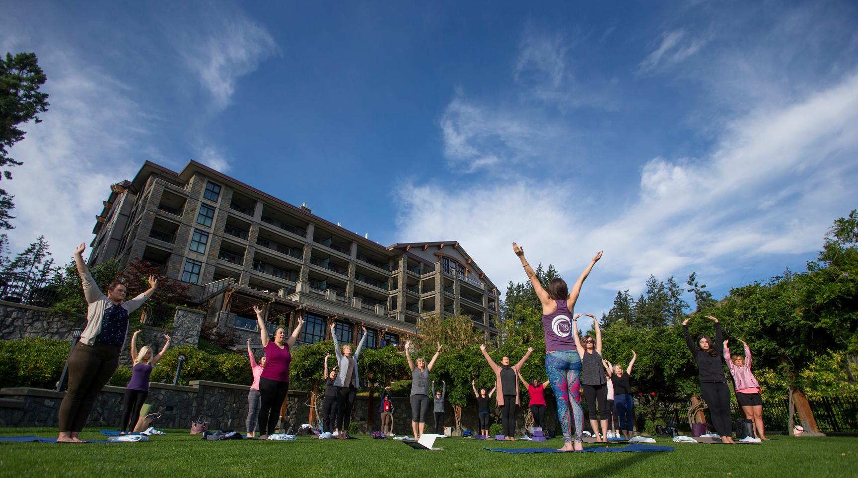 Yoga and Westin Bear Mountain