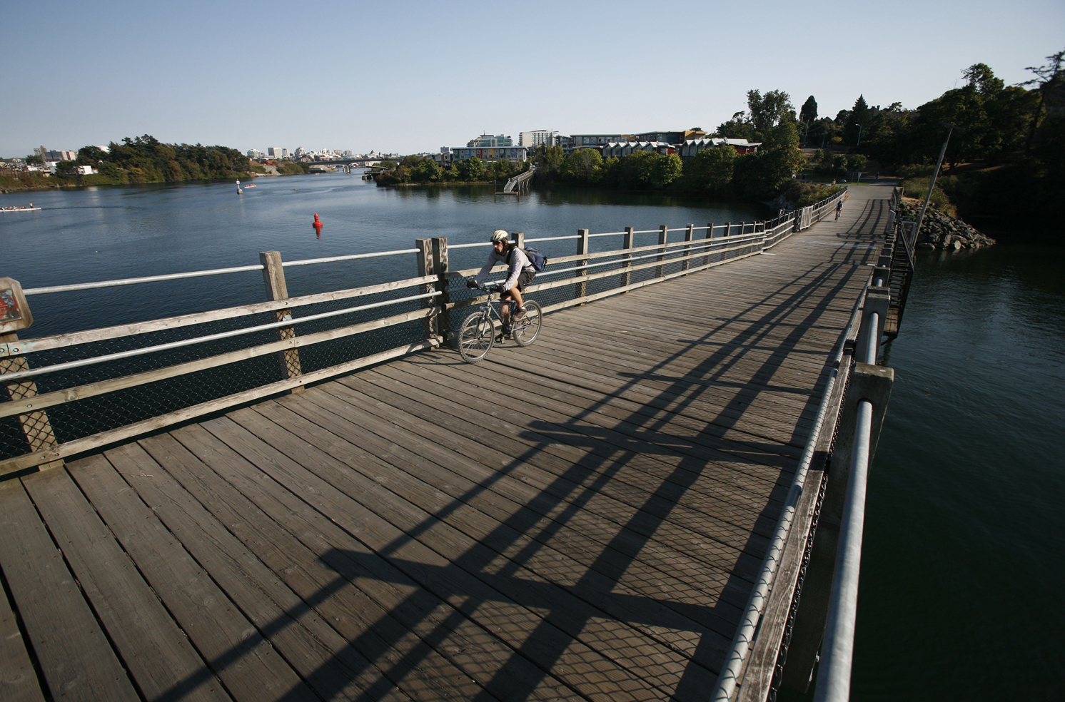 Cyclist on the Selkirk Trestle