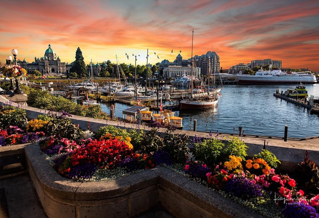 Inner Harbour Victoria Sunset