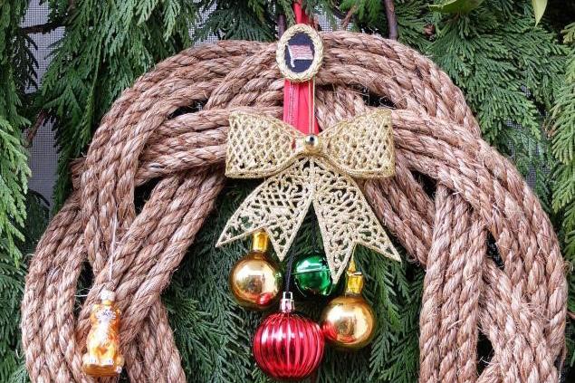 Festive nautical wreath