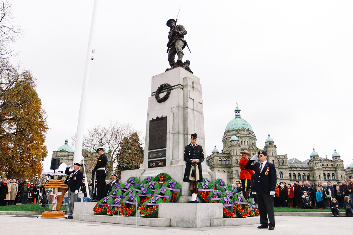 remembrance day victoria bc
