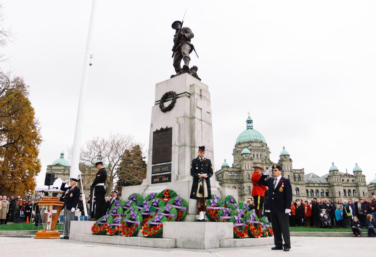 Remembrance Day Ceremony, Victoria BC