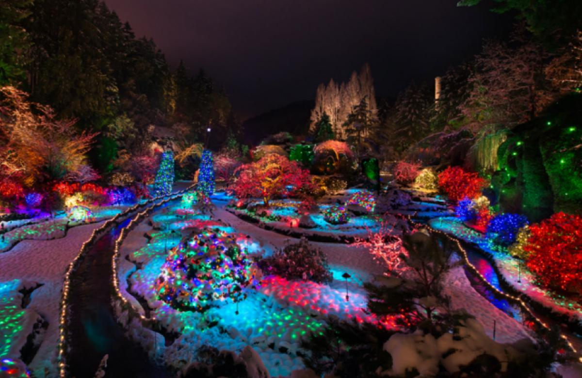 Butchart Gardens in the winter in BC