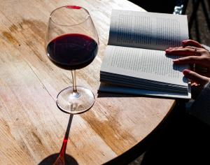 have a flight or a bottle of wine to share with friends or a good book