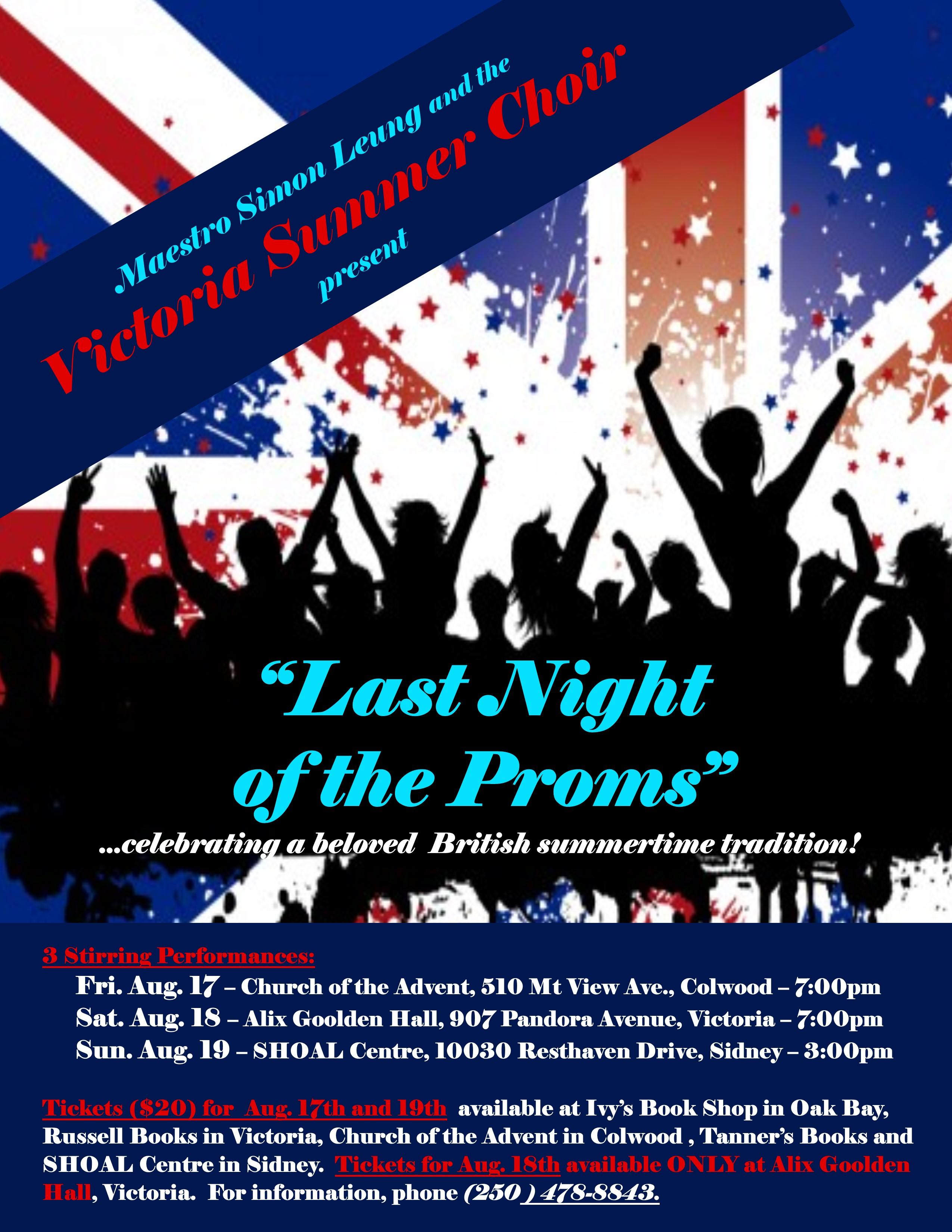 Summer Choir Concert: Last Night of the Proms   Tourism Victoria