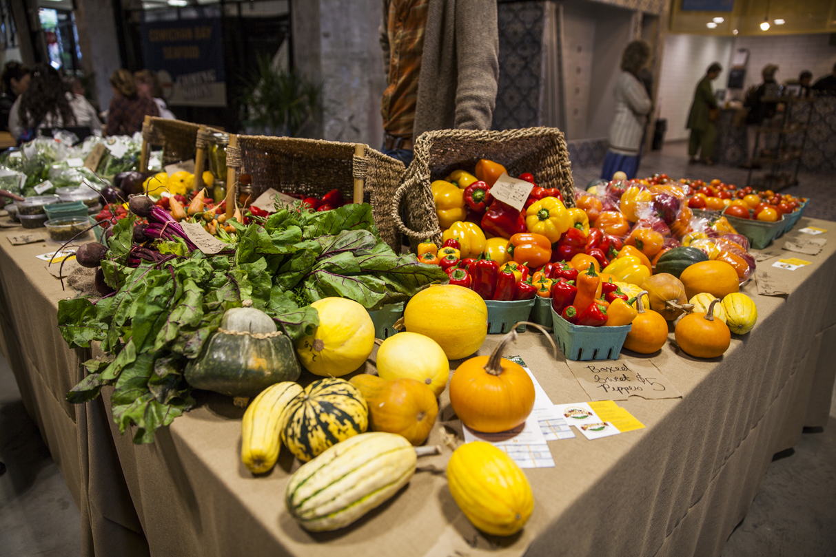 Produce from the Victoria Public Market at the Hudson